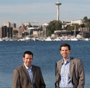 Shawn Iadonato, PhD., left, is executive vice president and chief scientific officer at Kineta Inc. Charles Magness, PhD., is president and CEO of the Seattle biotech.