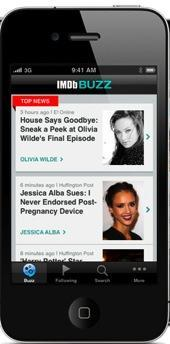 Celebrity junkies can get the latest news with IMDb's new mobile app.