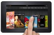 Amazon's Kindle Fire has a touch screen and comes in three sizes and prices.