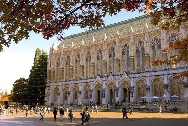 Suzzallo Library in the University of Washington's Red Square.