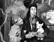 "Seattle Children's Theatre got its start in 1975. Here, in a 1995 performance of ""Winnie The Pooh,"" Allen Galli, left, portrays Pooh and Todd Jefferson Moore portrays Eeyore."