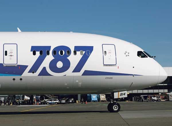 Boeing 787 clears site inspection in Japan.