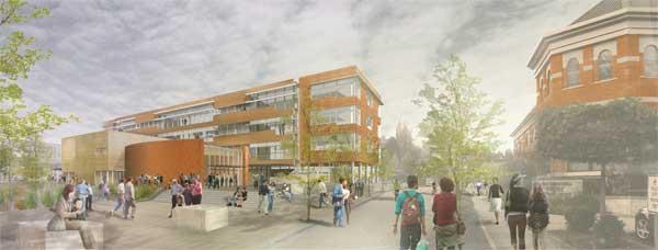 Plans for a new city hall, shown here, have stalled due to a failed annexation, leaving contractors like Vulcan in limbo.