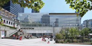 Nordstrom recently announced that it will partner with Toronto-based developer Cadillac Fairview Corp. and open four stores in Canada, including this store at Pacific Centre in Vancouver, British Columbia. It will be Nordstrom's first venture outside of the United States.