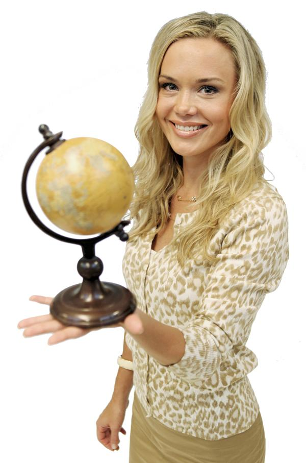 Erica Coogan's globe, because she loves to travel and every other year she goes somewhere she's never been before.