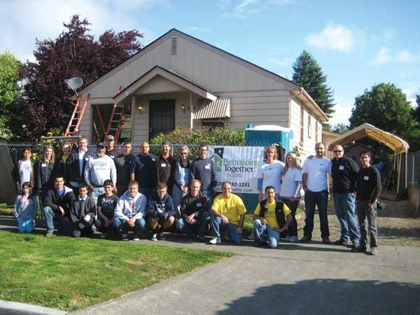 Turner Construction Co. employees do hands-on philanthropic projects in addition to the company donating cash and operating its training programs.