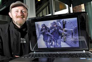 Video-game developer Christian Allen, who is creating a tactical shooter game called Takedown, hopes to raise $200,000 through the Kickstarter crowdfunding website.
