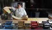 Martha Francis has been making pasta at Tom Douglas Restaurants for 16  years. Here, she rolls fresh pasta at Cuoco in South Lake Union for  agnolotti dal plin. In those 16 years, Francis estimates that she has  made more than 5 million plus of the plin.