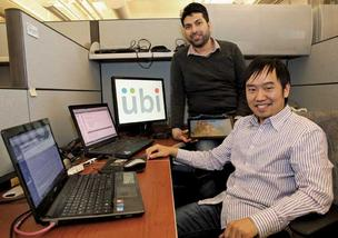 Anup Chathoth (left) of India and Chao Zhang of China say their startup, Ubi, has thrived since they moved to the U.S. five months ago.