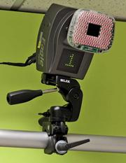 One of eight motion capture cameras in the Brooks Sports Human Performance Lab. The lab uses a Motion Analysis Corporation eight-camera 3-D real time motion capture system to analyze the body's performance in the shoe being tested.