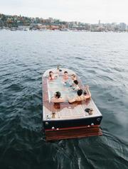 Warm soaks on Lake Union are offered year-round at Hot Tub Boats, one of a growing variety of recreational attractions on the lake.