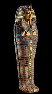 """This mini-coffin will be part of the exhibit """"Tutankhamun: The Golden King and The Great Pharoahs,"""" which is billed offering twice as many artifacts as when the Boy King blew into Seattle in the 1970s."""
