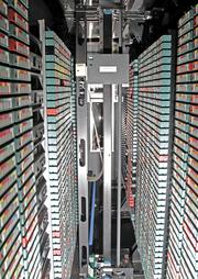 Medical data is copied onto backup tapes at Harborview Medical Center.