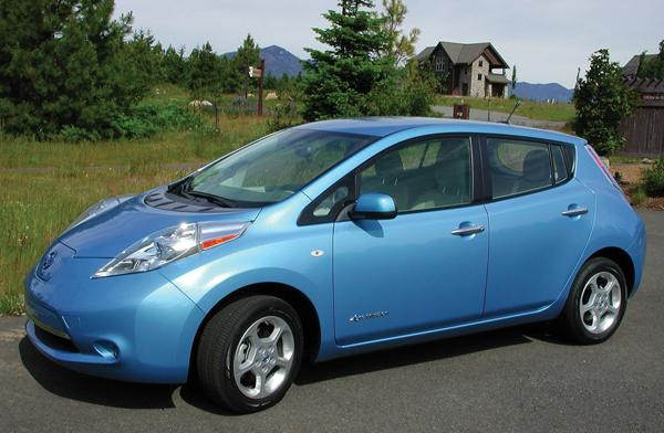 The Nissan Leaf electric car has a sticker price of $38,270.