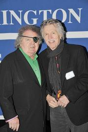 Glass artist Dale Chihuly (left) poses with actor Tom Skerritt at the Washington News Council's recent fundraising event in honor of Chihuly.