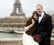 Michelle Moga was resigned to remaining single when she met Jean-Francois Peyroux, a Microsoft engineer, in a Paris restaurant. Now the two are married and living in Seattle.