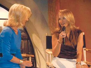 KING TV anchor Jean Enersen interviews television personality Katie Couric at the station's studios. It was Couric's first visit to the city.