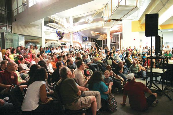 So many people turned out Aug. 5 at the Museum of Flight to watch the Mars landing that the crowd filled two theaters and a large meeting room before spilling into the museum's lobby. Many remained until midnight.