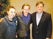 Gerrarda O'Beirne, left, actor Cary Elwes and John Fuhrman are filming a dark comedy that O'Beirne and Fuhrman, a married couple, are co-producing.