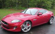 The Jaguar XKR Coupe has a sticker price of $103,375 as pictured.