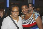 From left, Valerie Curtis-Newton and Qadriyyah Shabazz.