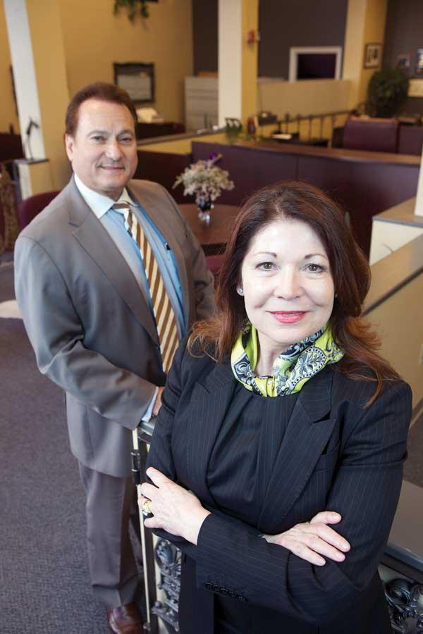 Gayle Brandon, right, and husband Denny Behrend own and operate the Lacey OMalley Bail Bond Agency in Seattle.