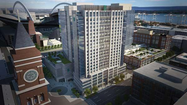 Stadium Place developers inked a deal with Embassy Suites to run the hotel in a proposed mixed-use project just north of CenturyLink Field.