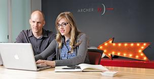 Greg Pratt and Rebecca Borgh, project manager and marketing specialist with mobile-technology firm Archer, work in Belltown, where their company serves global clients including Lexus, CNN, General Mills and Visa.