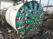 The boring machine is being built in Japan.