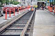 The First Hill street car line is being built.