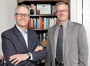 Bruce Herbert, left, and Larry Dohrs, run Investor Voice and are pushing efforts to require corporations to be more transparent about their political donations.