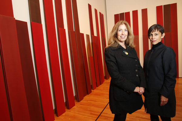 "Seattle Art Museum's Maryann Jordan (left) and Chiyo Ishikawa teamed with the Centre Pompidou in Paris to create ""Elles."""