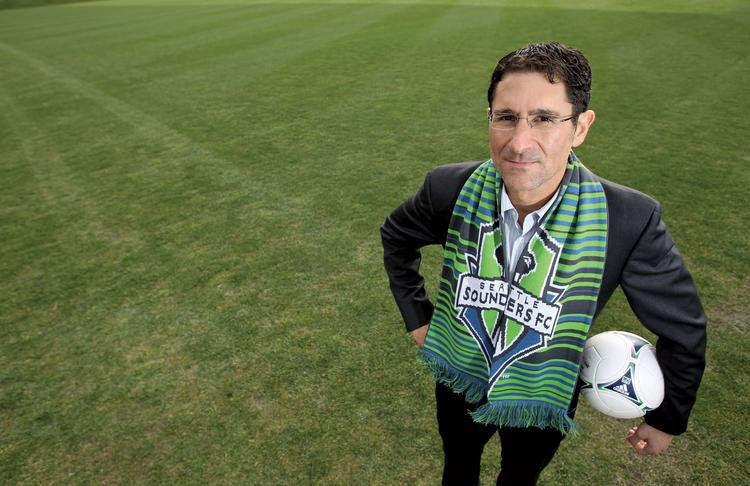 Seattle Sounders fans will decide in an online vote whether General Manager Adrian Hanauer will stay in his post.