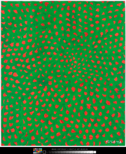 """Nets"" by Yayoi Kusama is on display with the show, which runs through Jan. 13."