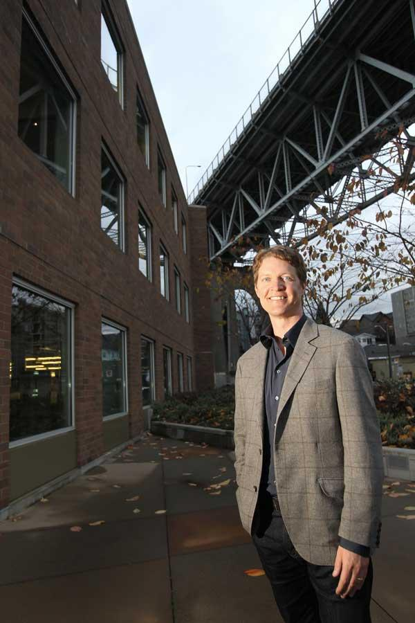 """People really get passionate about data, even Bigfoot sightings,"" says Tableau CEO Christian Chabot, outside company headquarters in Seattle's Fremont district."