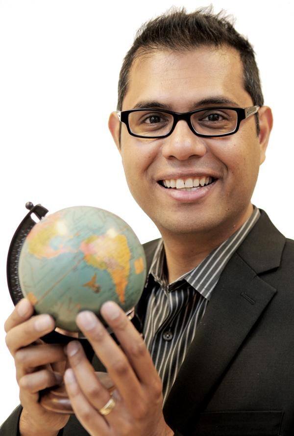 This globe sits on Jun Young's desk and is symbolic of his passion for travel. He's been to all continents except Antarctica.