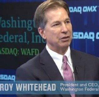Washington Federal CEO Roy Whitehead rang the opening bell at Nasdaq last fall.