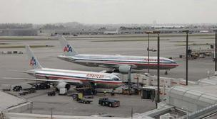American Airlines plane at Miami International Airport