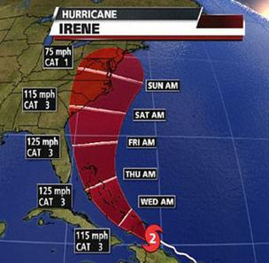 Hurricane Irene could be headed for Morehead City.