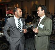 Salvatore Insalaco, business development manager at Modis, and Michael Rosenberg of Brown & Brown.
