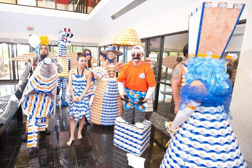 Zimmerman staffers were invited to make costumes out of White Castle sandwich boxes.