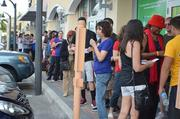 About 200 people were in line for the opening of VooDoo BBQ & Grill in Pembroke Pines on Jan. 13.