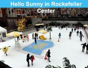 Skaters were admitted for free at the Rockefeller Center rink in New York, courtesy of the CVB.