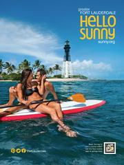 Lighthouse Point provides a scenic setting for an ad that promotes romantic and healthy getaways.