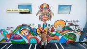 LEBO works on a mural commissioned by Ketel One on theDorrisa Building, 2751 N. Miami Ave., Miami, which is where the artist's studio is located.