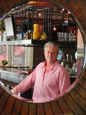 Restaurateur Jack Mancini at his new M Bar, at 1301 E. Las Olas Blvd. in Fort Lauderale. The tapas-style restaurant is located next-door to his Tuscan-style Mancini's, which is slated to open in October.