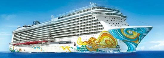 The Norwegian Getaway will be Norwegian Cruise Lines' second ship out of three that are expected to be delivered within the next three years.