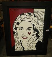 A painting by Romero Brito, said to be of Amarilis Osorio.