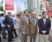 Perez stands next to Miami Mayor Tomas Regalado at the celebration for the start of 1100 Millecento, which features work by Carlos Ott and Pininfarina.
