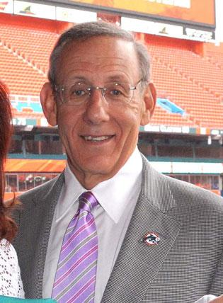 The Miami Dolphins, owned by Stephen Ross, are the 25th most valuable sports franchise, according to a new Forbes ranking that valued the team at $1.06 billion.